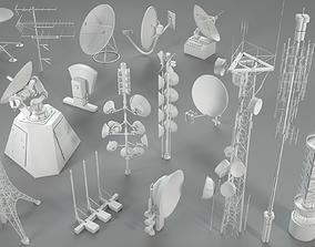 3D model Antennas - 16 pieces