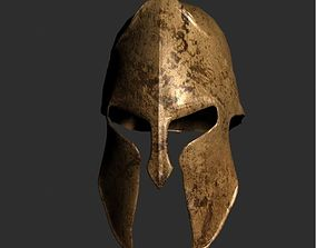 Spartan Helmet 3D model low-poly