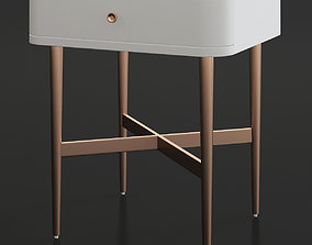 low-poly SERAPHINA SIDE TABLE 3d model