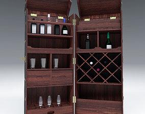 Wardrobe Trunk Bar Colonial PBR 3D
