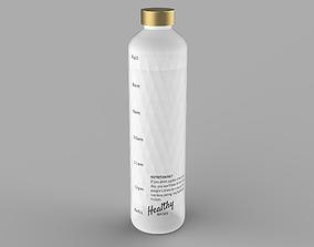 3D model low-poly water bottle