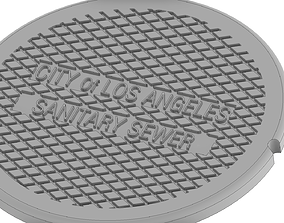 Drink coaster -Los Angeles cover 3D print model