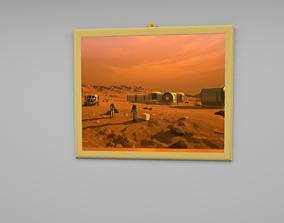 Mars wall frame 3D asset