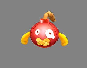 Cartoon grenade bomb 3D asset