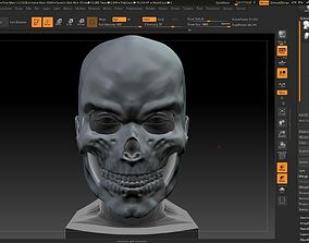 3D printable model Skull mask skull mask moving jaw 3