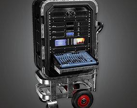3D asset HLW - Portable Mixer Cart - PBR Game Ready