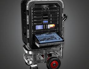 3D model Portable Mixer Cart HLW - PBR Game Ready
