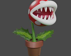 3D model Piranha plant