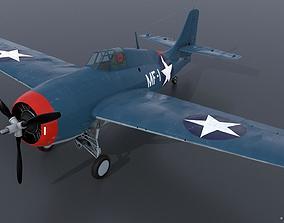 GRUMMAN F4F-3 WILDCAT MF1 3D
