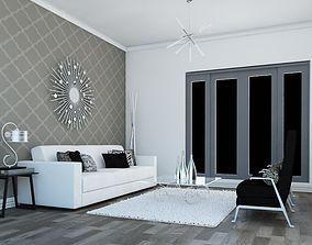 High def Classic living Room 10 model 3D