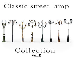 Classic street lamp Collection Vol 2 3D model