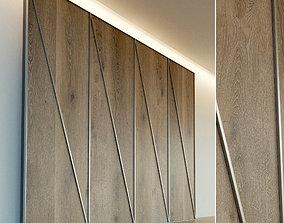 Wooden wall panel 70 3D model