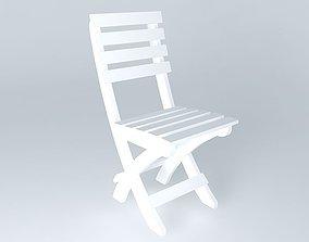 3D Folding Bench Chair