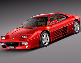 car 3D model Ferrari 348 tb 1989-1995