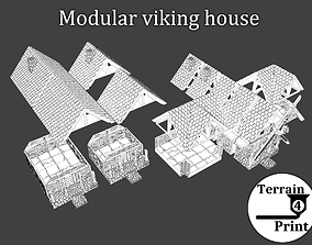 3D print model Modular viking house