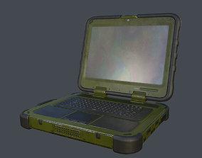 Shielded Military Laptop 3D model