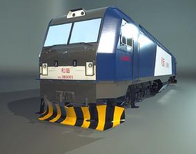 HXD3B Train Engine 3D model