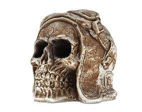 Pilot Skull 3D asset