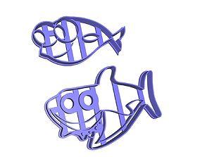 Baby Shark Cookie Cutter Set 3D print model