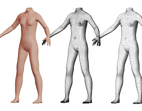 Character 13 High and Low-poly - Body male 3D model