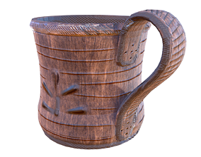 3D asset game-ready Beer Mug