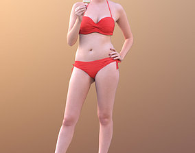 Elena 10456 - Bikini Model eating icecream realtime