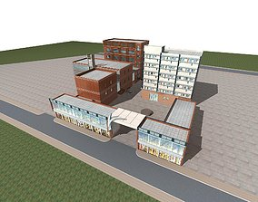 Office Building road 3D