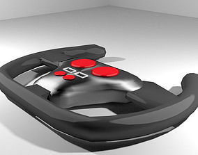 3D model Steering - Racing type