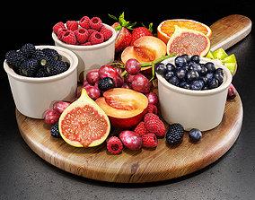 Fruits set 02 3D