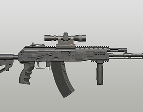 3D model rigged AK-12