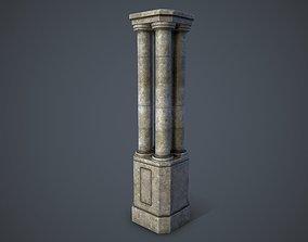 Ancient Pillar 3D asset game-ready