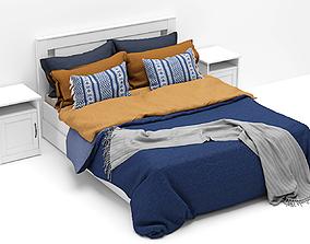 Songesand Bed Ikea version 3 - scandinavian 3D model