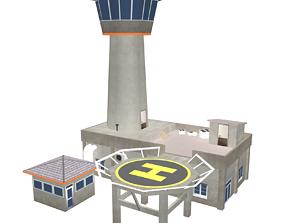 3D asset Air Traffic Control Tower