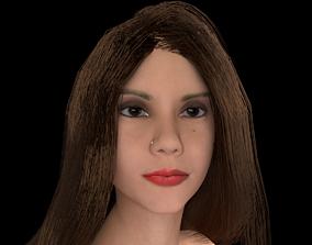 nude girl Litt Caprice v1 Rigged animation 3D