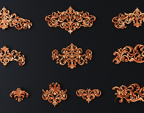 onlay cartouches 3D model
