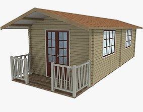 3D model Wood Cabin Type 1 Textured