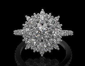 3D print model Snowflake Ring