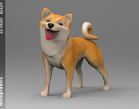 3D printable model Doggie Shiba-inu statuette