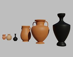 3D model Greek vases collection - 3 Aryballos and 3