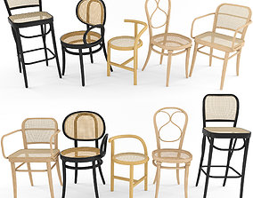 3D model 5 chair designs for Wiener GTV collection