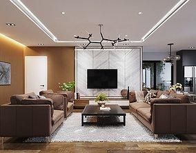 living furniture 3D model Apartment