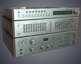 Audio HIFI amplifier tuner corrector 3D model