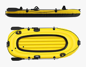 3D Boat inflatable 01 yellow