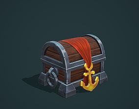 Pirate chest for mobile game 3D model
