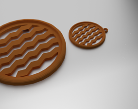 Glass Coaster Pattern 1 and Pendant 3D print model