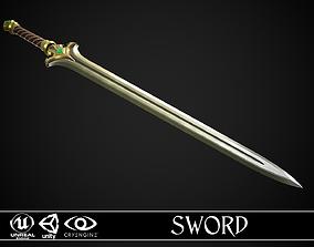 3D asset Sword A3