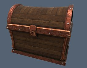 3D asset Stylized old wooden chest