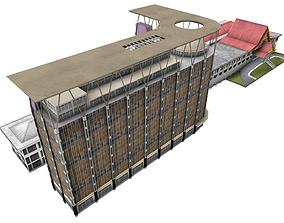 Riau provincial governor office 3D asset