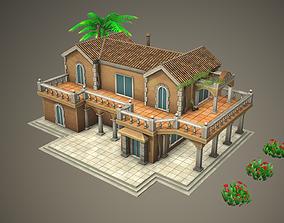 3D asset Stylized Tropical Beach Building