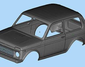 Printable Body Lada Niva 3D print Russian SUVs Scale 110